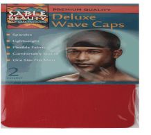 120 Bulk Sable Beauty Deluxe Wave Cap 2 Pack Red