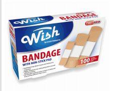 96 Bulk Wish Bandage 100 Count