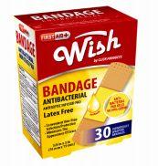 96 Bulk Wish Bandage Antibacterial 30 Count