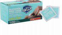 48 Bulk Wish Alcohol Prep Pads 100 Pack