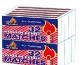 96 Bulk Ez Flames Wooden Penny Matches 10 Pack 32 Count