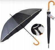 24 Bulk Drops Umbrella Long Wood Handle
