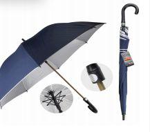 24 Bulk Drops Umbrella Long 70 Cm Silver Lining