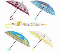 24 Bulk Drops Umbrella Kids With Animal Print