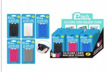 48 Bulk Silicone Card Holder Phone Stand