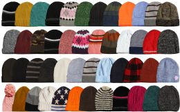 48 Bulk Yacht & Smith Winter Hat Beanies For Adults, Mixed Colors And Styles Assortment, Unisex