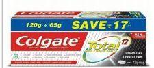 36 Bulk Colgate Toothpaste 160G 6.52oz Total Charcoal Deep Clean