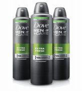 24 Bulk Dove Body Spray 250ml Mens Care Extra Fresh