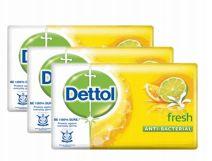 27 Bulk Dettol Soap 105g 5 Pack Fresh Yellow