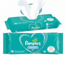 48 Bulk Pampers Wipes 52 Count Fresh Clean