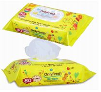48 Bulk Only Fresh Wipes 80 Count With Lid Yellow