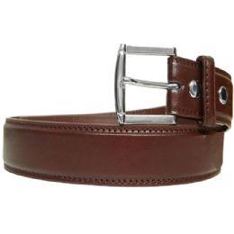 36 Bulk Mens Classic Brown Belt