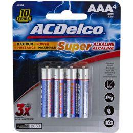 48 Bulk Batteries Aaa 4pk Alkaline Ac Delco Carded