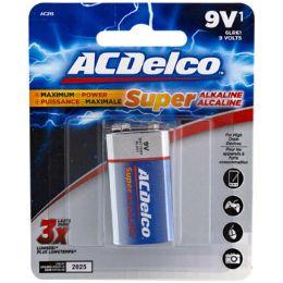 48 Bulk Battery 9 Volt Alkaline Ac Delco Carded