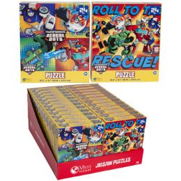 24 Bulk Puzzle 24pc Transformers Rescue 2 Titles In Pdq Size 10.3x9.1
