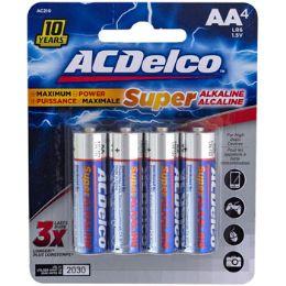 48 Bulk Batteries Aa 4pk Alkaline Ac Delco Carded
