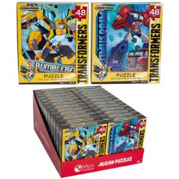 24 Bulk Puzzle 48pc Transformers Cyber Verse 2 Titles In Pdq