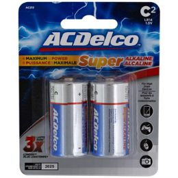 48 Bulk Batteries C 2pk Alkaline Ac Delco Carded