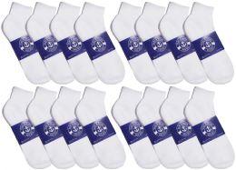 24 Bulk Yacht & Smith Womens White Lightweight Cotton No Show Socks, Sock Size 9-11