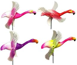 48 Bulk Garden Stake Decoration Flamingo
