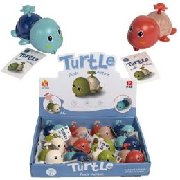 24 Bulk Turtle Pull Back Toy 3 Asst In Pdq/ht Age 3+