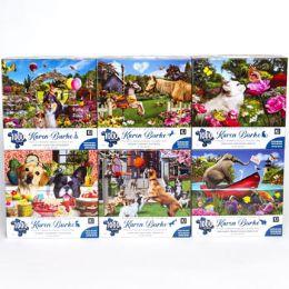 6 Bulk Puzzle 1000pc Karen Burke 6 Titles Size 27x20