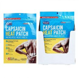 24 Bulk Pain Relief Patch 2ct Bonus Pack Hot Capsaicin Coralite