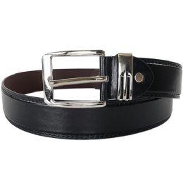 48 Bulk Men's Fashion Black Belt