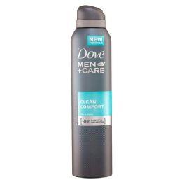 24 Bulk DOVE SPRAY 250ML MEN CLEAN COM