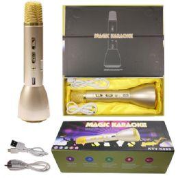 12 Bulk Phone Karaoke Microphone In Gold