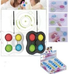 24 Bulk Four Corner Push Pop Spinner Fidget Toy Medium Size