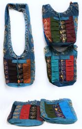 10 Bulk Nepal Hobo Bags with Flower Embroidery Assorted Colors