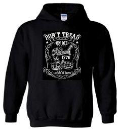 12 Bulk Don't Tread On Me Liberty or Death Black Color Hoody