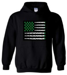 12 Bulk Marijuana Flag Style Black color Hoody