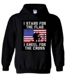 6 Bulk 3XL Hoody Stand Flag Kneel Cross Hoodies