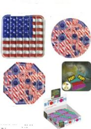 24 Bulk Red And White USA Flag Stop Pops
