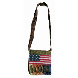 2 Bulk Nepal Small Sling Purse with American Flag Design