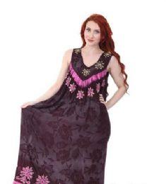 12 Bulk Rayon Long Straight Dress Batik Dye Assorted Colors