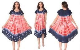 12 Bulk Rayon American Flag Dress