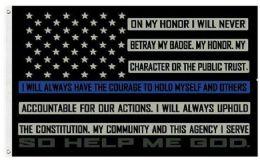 24 Bulk Blue Line Oath of Honor Flag