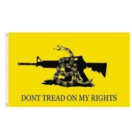 24 Bulk DON'T TREAD ON MY RIGHTS Flag