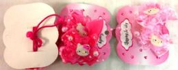 96 Bulk Kitty Hair Band with Lace