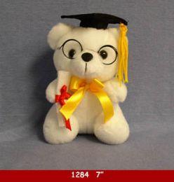 24 Bulk Graduation Cap Bear With Glasses