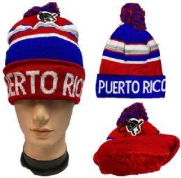 36 Bulk Pompom Winter Hat Puerto Rico Plush Lining