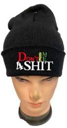 36 Bulk Don't Ask Me 4 Shit Black Winter Hat