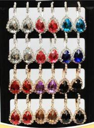 72 Bulk Rhinestone Water Drop Fashion Earring Stand