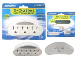 96 Bulk 3 Outlet Wall Tap With LED