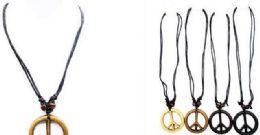 120 Bulk Peace Necklace Adjustable Size