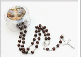 120 Bulk Scented Rosary In A Plastic Case Assorted Colors