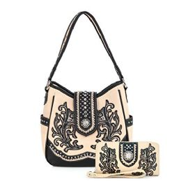 2 Bulk Rhinestone Embroiled Western Purse With Wallet